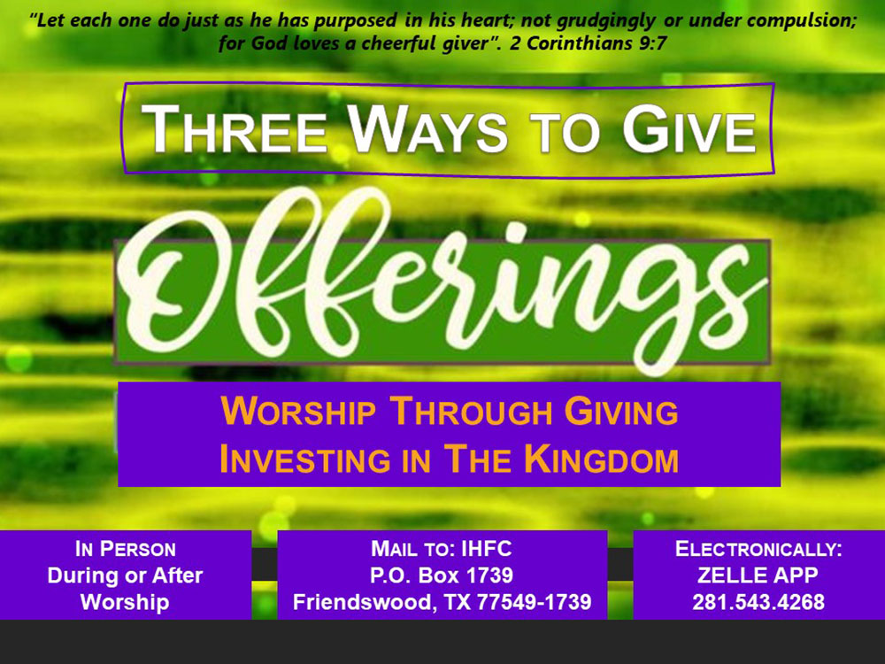 Ways to giving